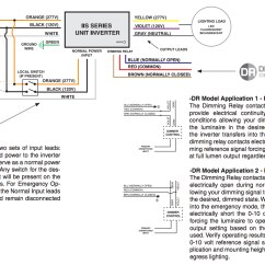 Emergency Lighting Ballast Wiring Diagram For Motorhome Batteries Philips Bodine Bdl94c Omc Cobra 3