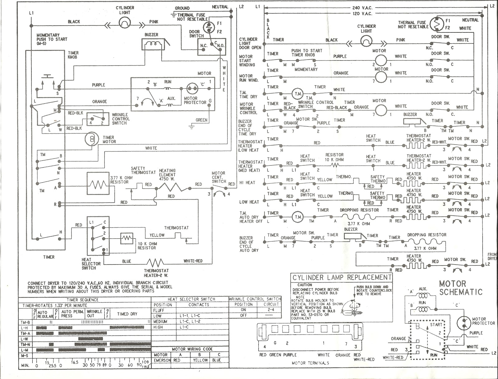 Kenmore Dryer Power Cord Wiring Diagram Collection