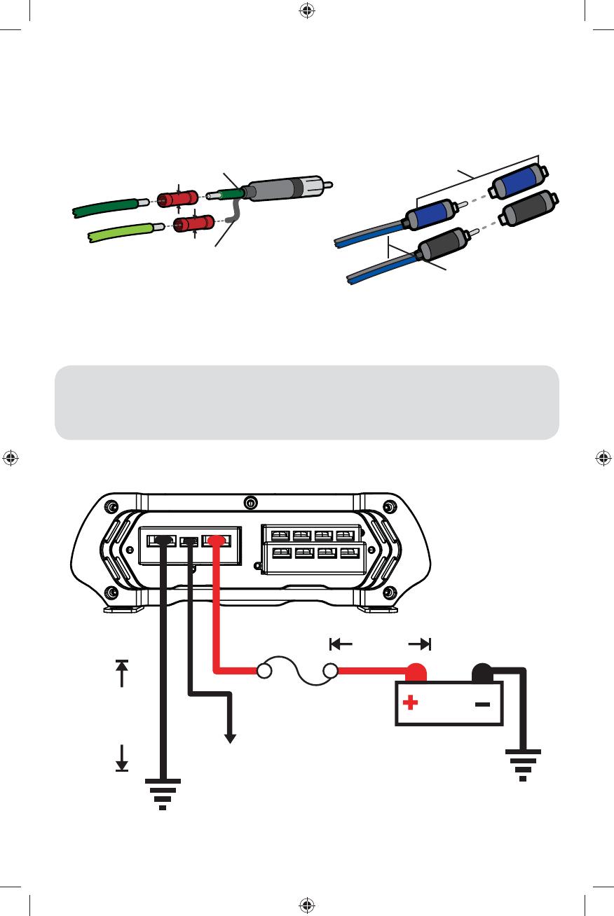 amplifier wire colors