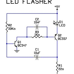 Transistor Wiring Diagram 2005 Dodge Ram Stereo Led Flasher Sample Download Very Simple 2 Circuit 9 K