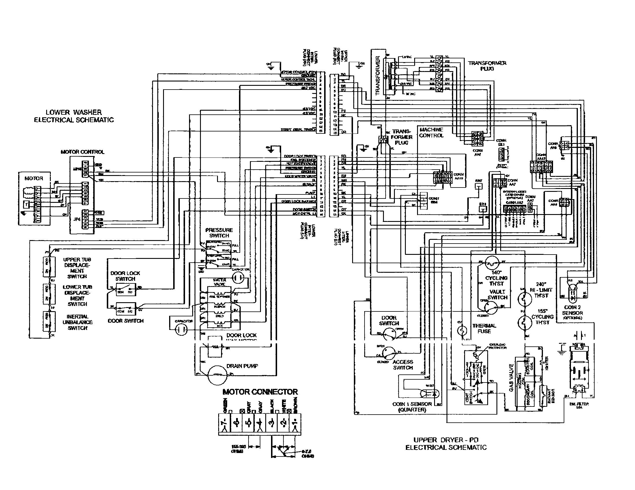 3 phase washer motor wiring diagrams