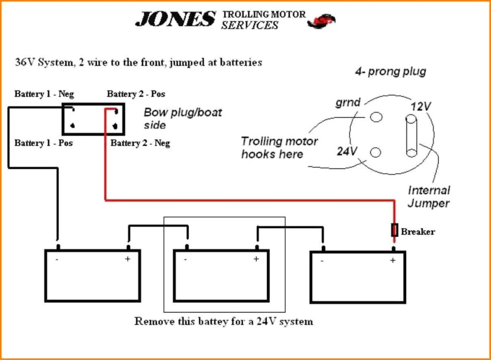 medium resolution of 4 wire trolling motor to a 3 wire plug diagram wiring diagram used 4 wire trolling motor to a 3 wire plug diagram