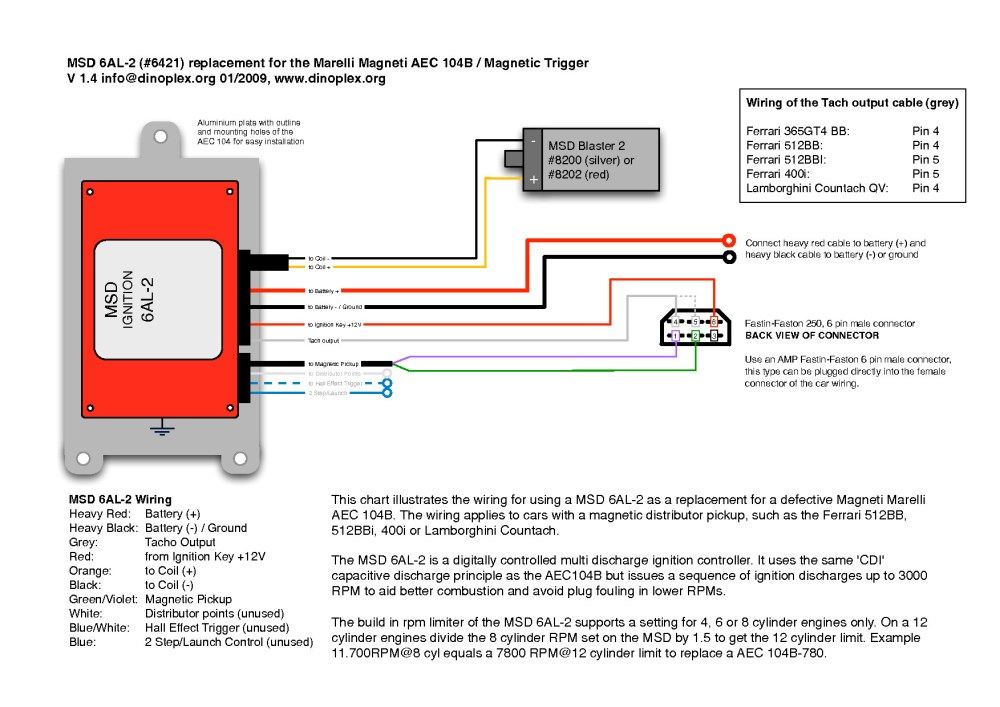medium resolution of msd 6al wire diagram