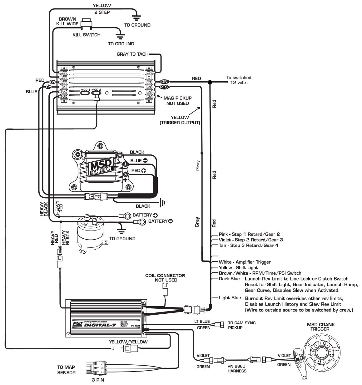 Msd 6al 2 Wiring Diagram Collection Wiring Diagram Sample