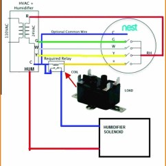 Thermostat To Furnace Wiring Diagram Mercury Optimax 150 Nest Humidifier Download