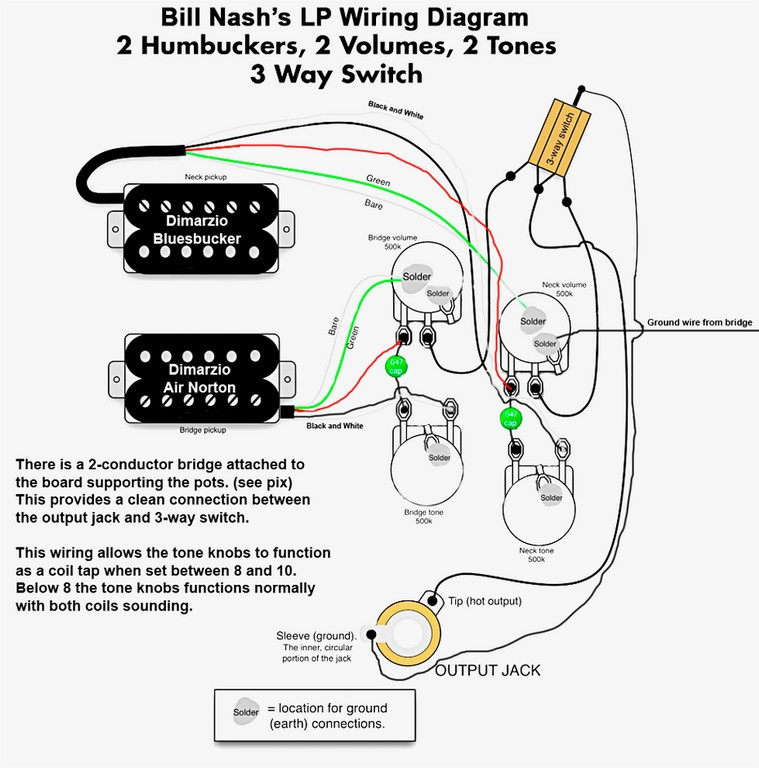 Three Humbucker Wiring Diagram. Humbucker Wiring Book