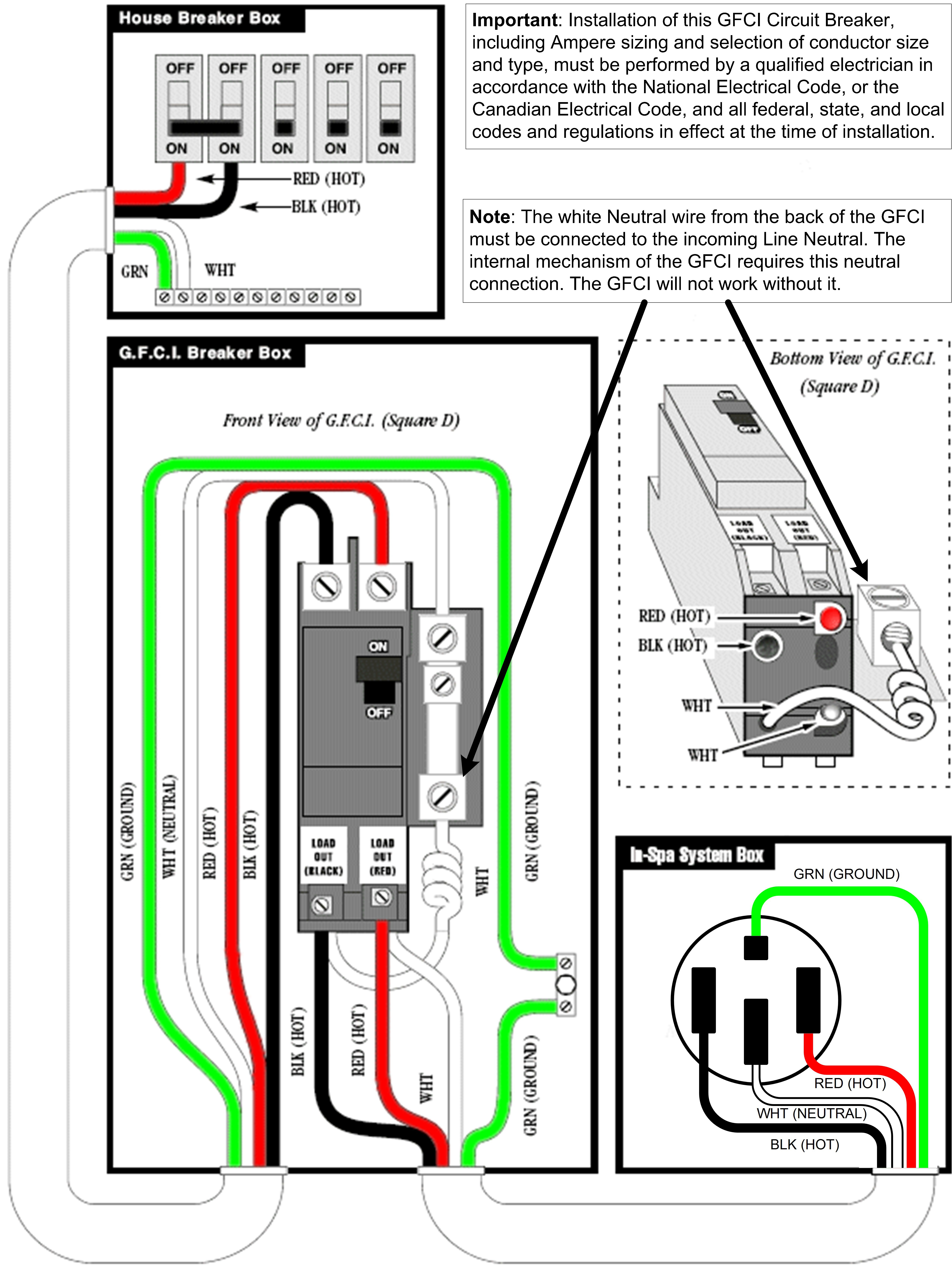 troubleshooting gfi schematic wiring