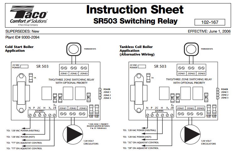 Taco 006 Circulator Wiring Diagram Auto Electrical Wiring Diagram