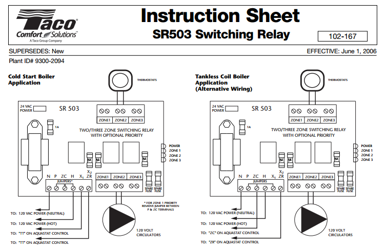 taco 571 2 zone valve wiring diagram trusted wiring diagram online Home Heating Boiler System Diagram taco sr502 wiring diagram 2 zone wiring diagrams best 3 wire zone valve wiring taco 006