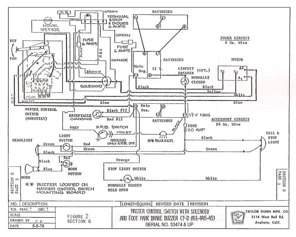 medium resolution of dunn wiring diagram further club car wiring diagram 48 volttaylor dunn golf cart wiring diagram wiring