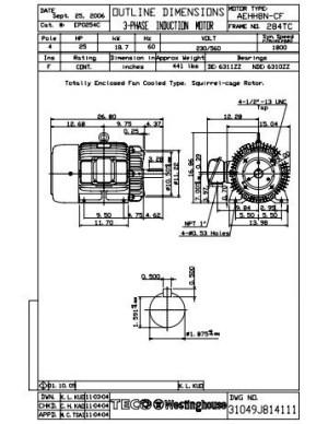 Teco Westinghouse Motor Wiring Diagram Gallery | Wiring