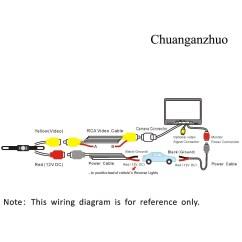 Reversing Camera Wiring Diagram 6 Way Square Trailer Tft Lcd Monitor Gallery