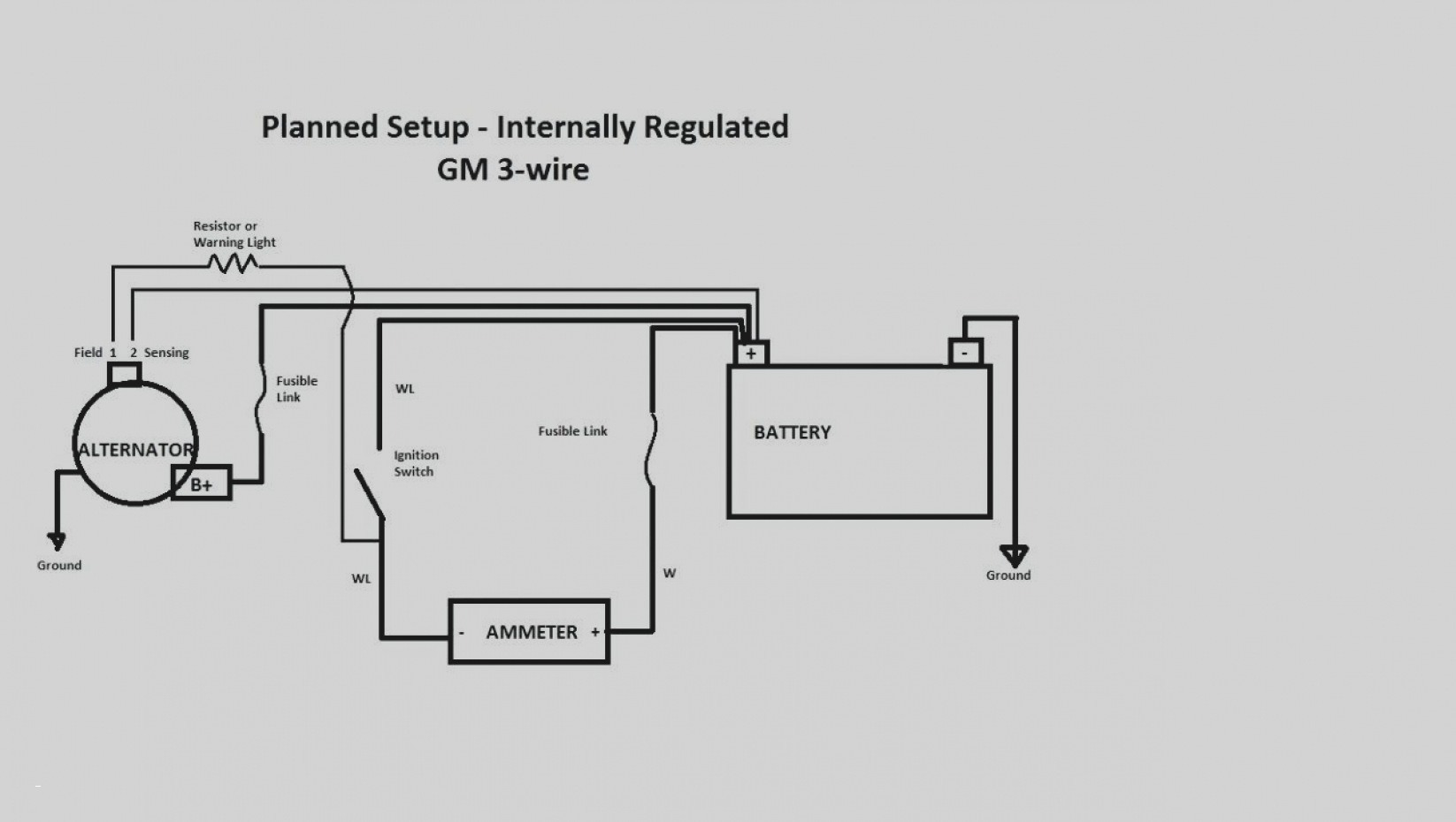 one wire alternator wiring diagram mopar simplicity 6216 three sample