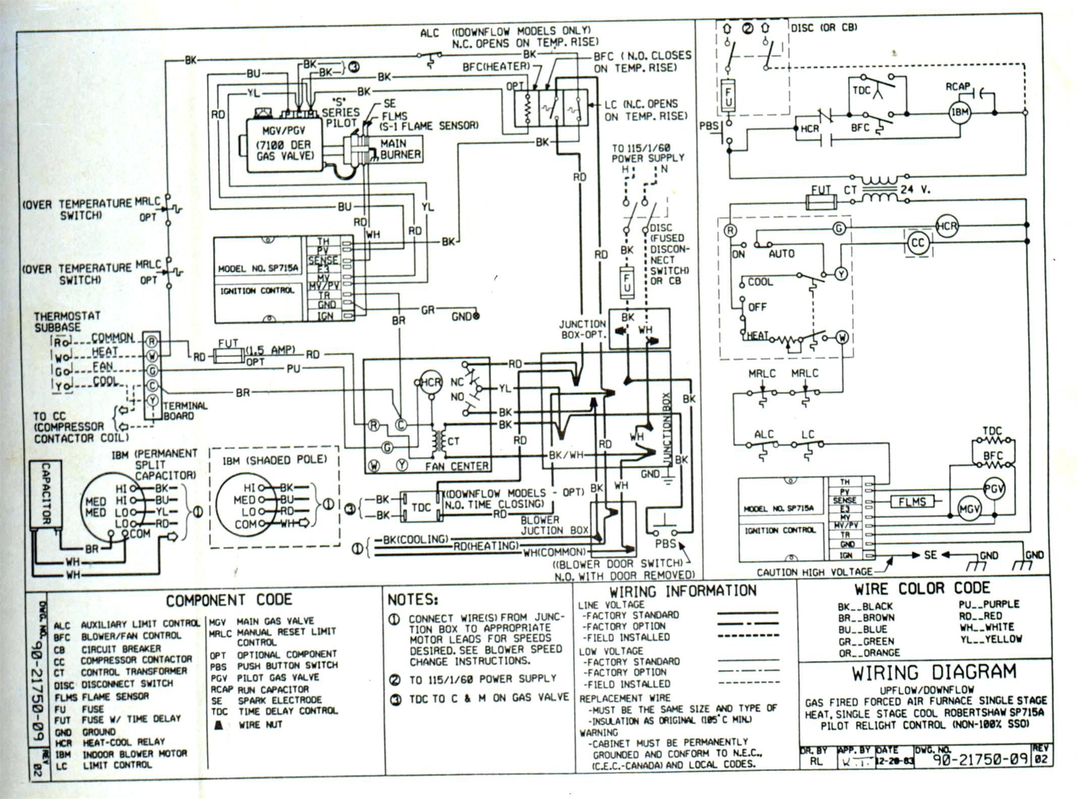 7 Wire Thermostat Wiring Diagram For Trane