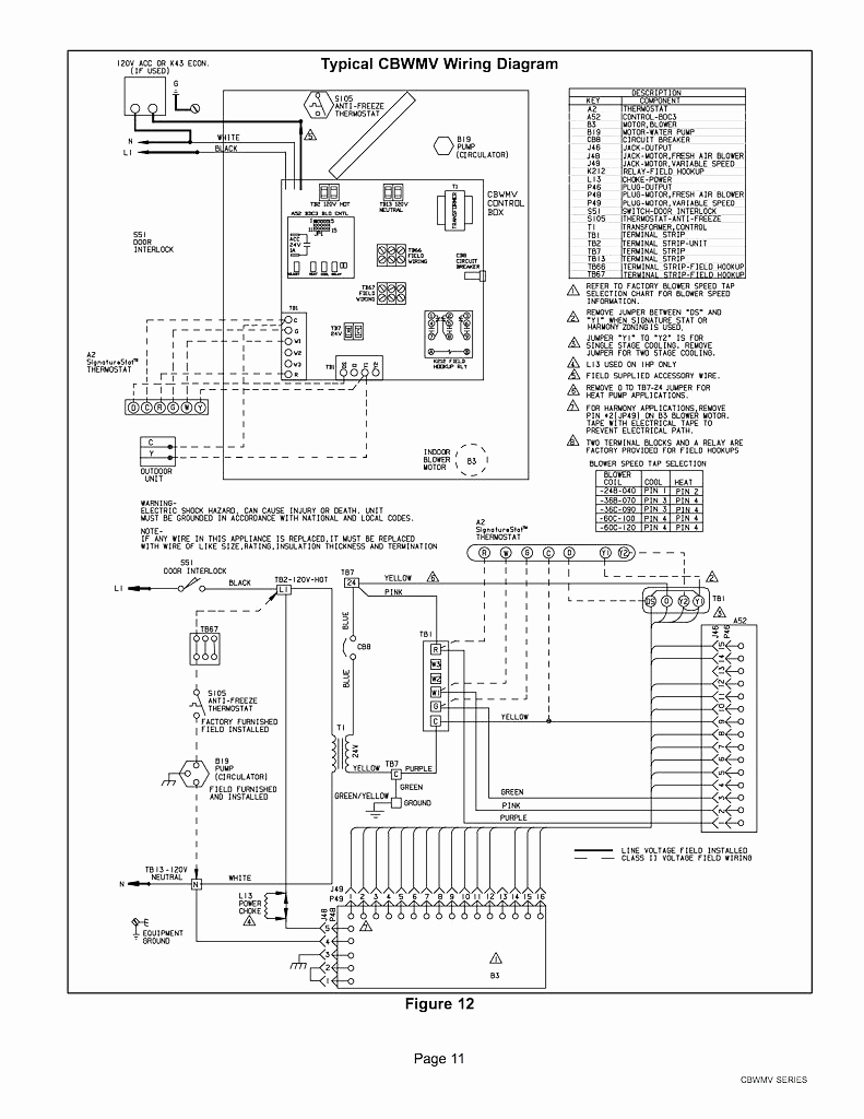Trane Heat Strip Wiring Diagram Wiring Diagram Schematics