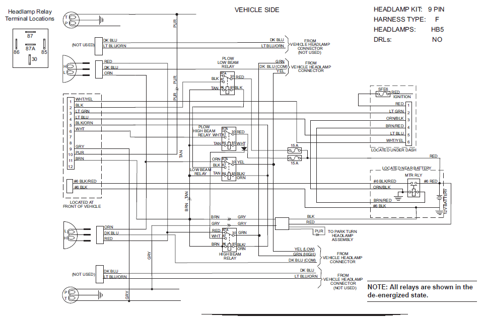 Western Snow Plows Wiring Diagram Headlights Collection