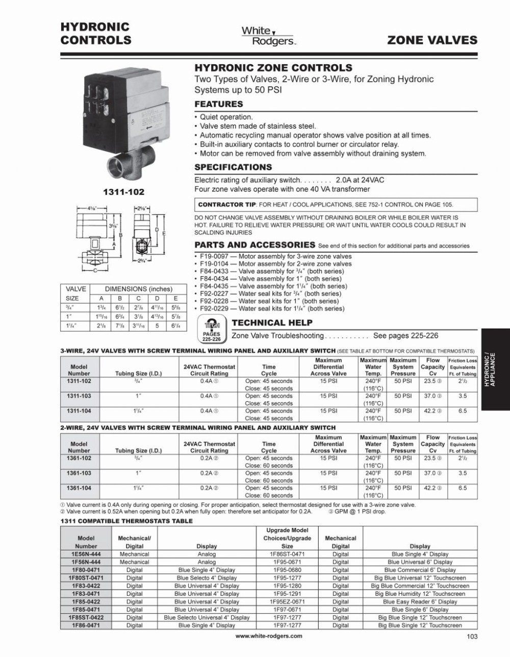medium resolution of white rodgers 1311 102 wiring diagram download size of wiring diagram taco zone valve wiring