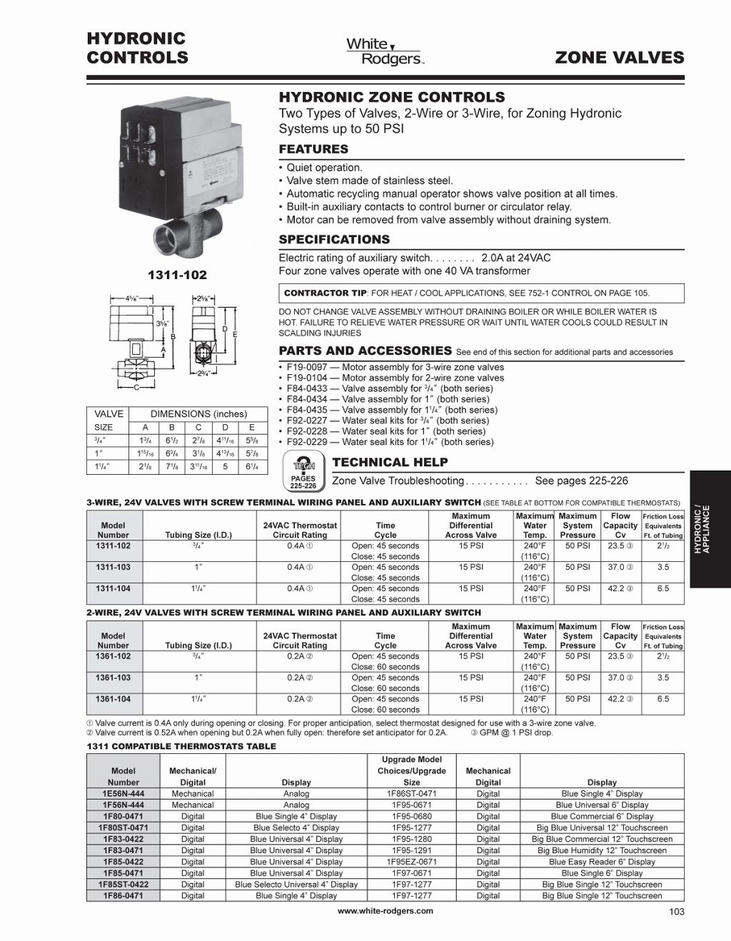 hight resolution of white rodgers 1311 102 wiring diagram download size of wiring diagram taco zone valve wiring