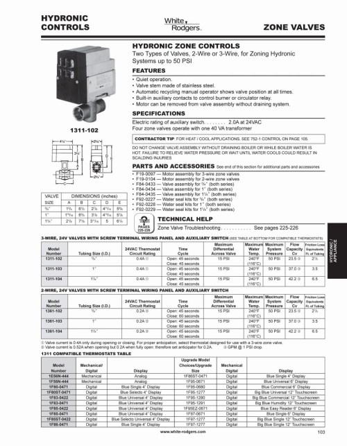 small resolution of white rodgers 1311 102 wiring diagram download size of wiring diagram taco zone valve wiring