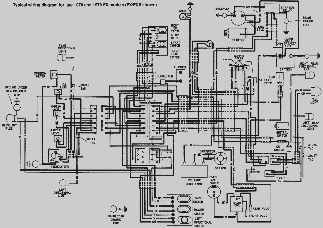 ultra motorcycle wiring diagram