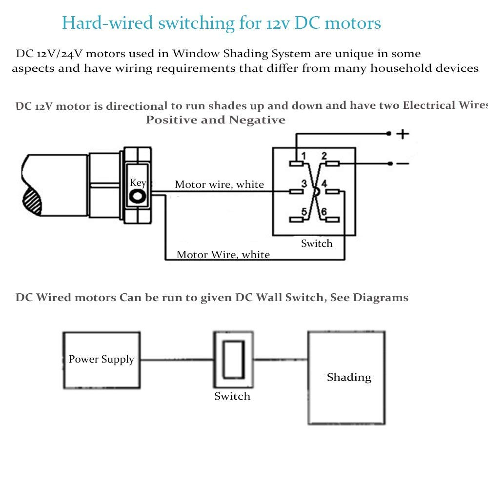 diy electrical wiring diagrams 1966 vw bus diagram single phase marathon motor gallery for motorized blinds amazon rollerhouse electronic roller shades mini