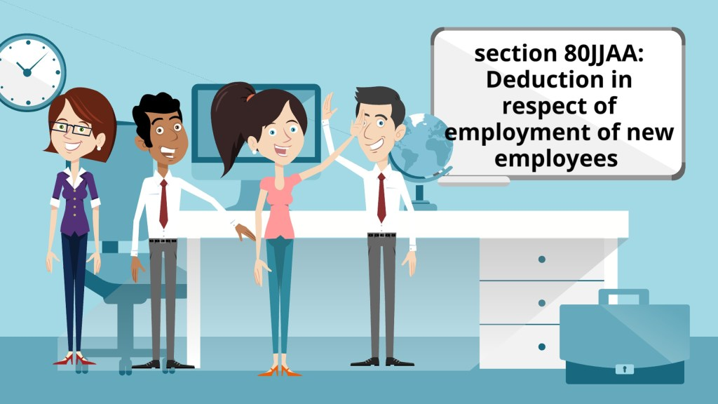 Deduction in respect of employment of new employees as per section 80JJAA