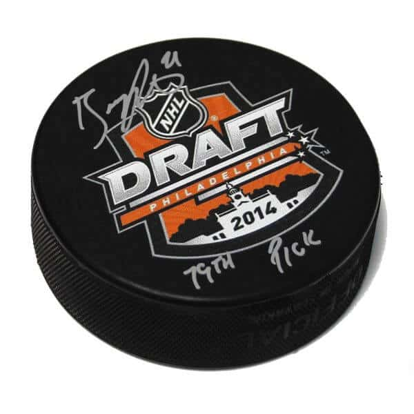 Brayden Point Tampa Bay Lightning Autographed 2014 Draft Puck 1