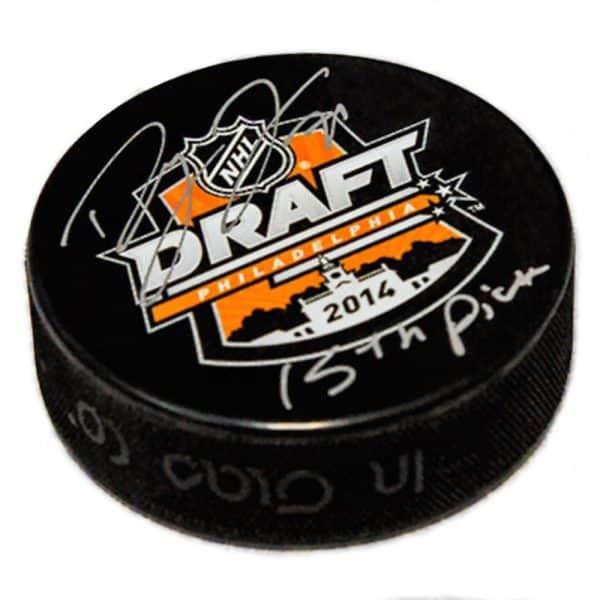 Dylan Larkin Detroit Redwings Autographed Draft Puck 1