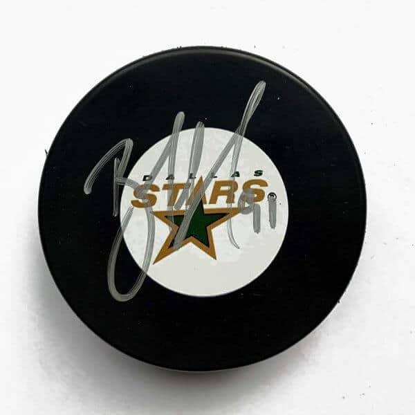 Brad Richards Autographed Dallas Stars Puck 1