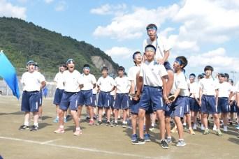 石巻市立渡波中学校運動会フェイスペインティング
