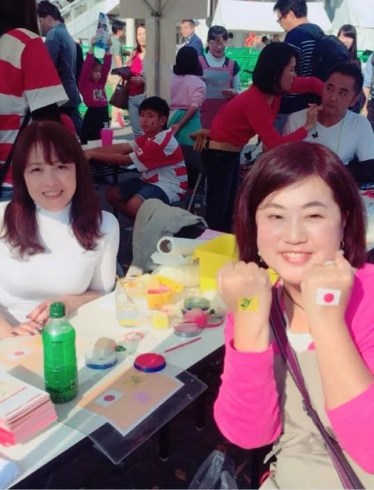 20171104横浜ラグビービレッジ_イベント_フェイスペインティング・サポーターの画像