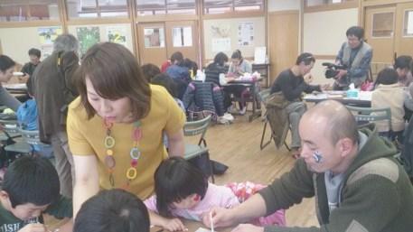 小学校/地方自治体主催のフェイスペインティング・ワークショップの画像