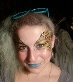 Sparkling Leopard Eyes face painting