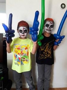 Halloween Zombies & Balloons