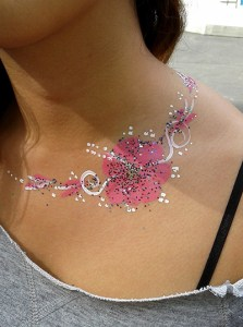 Pink Flower Necklace