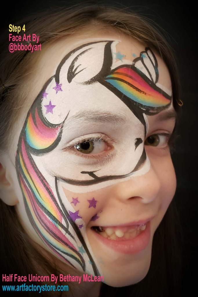 step 4 of half face unicorn tutorial