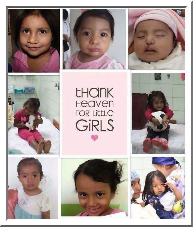 little girls collage