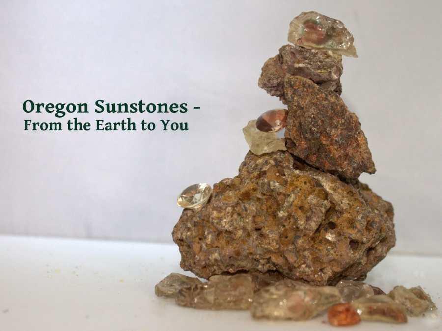 Sunstones on Lava Rocks