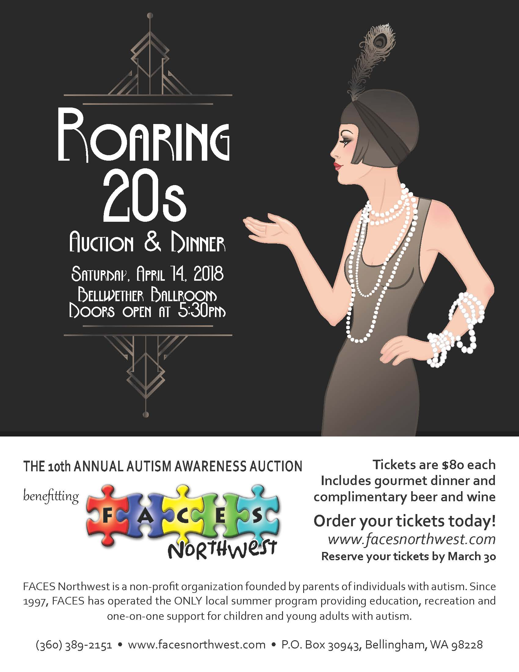 Roaring 20s Poster Faces Northwest