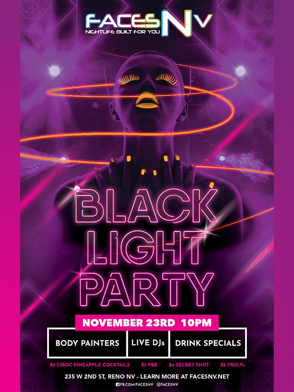 facesnv reno nevada black light party 2019