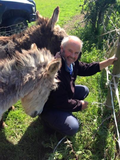 Matt and the donkeys