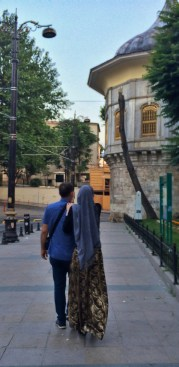A couple taking a morning walk like us