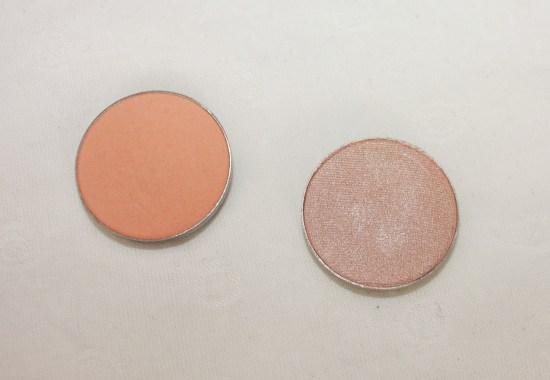 Makeup Geek Peach Smoothie and Shimma Shimma Eyeshadows