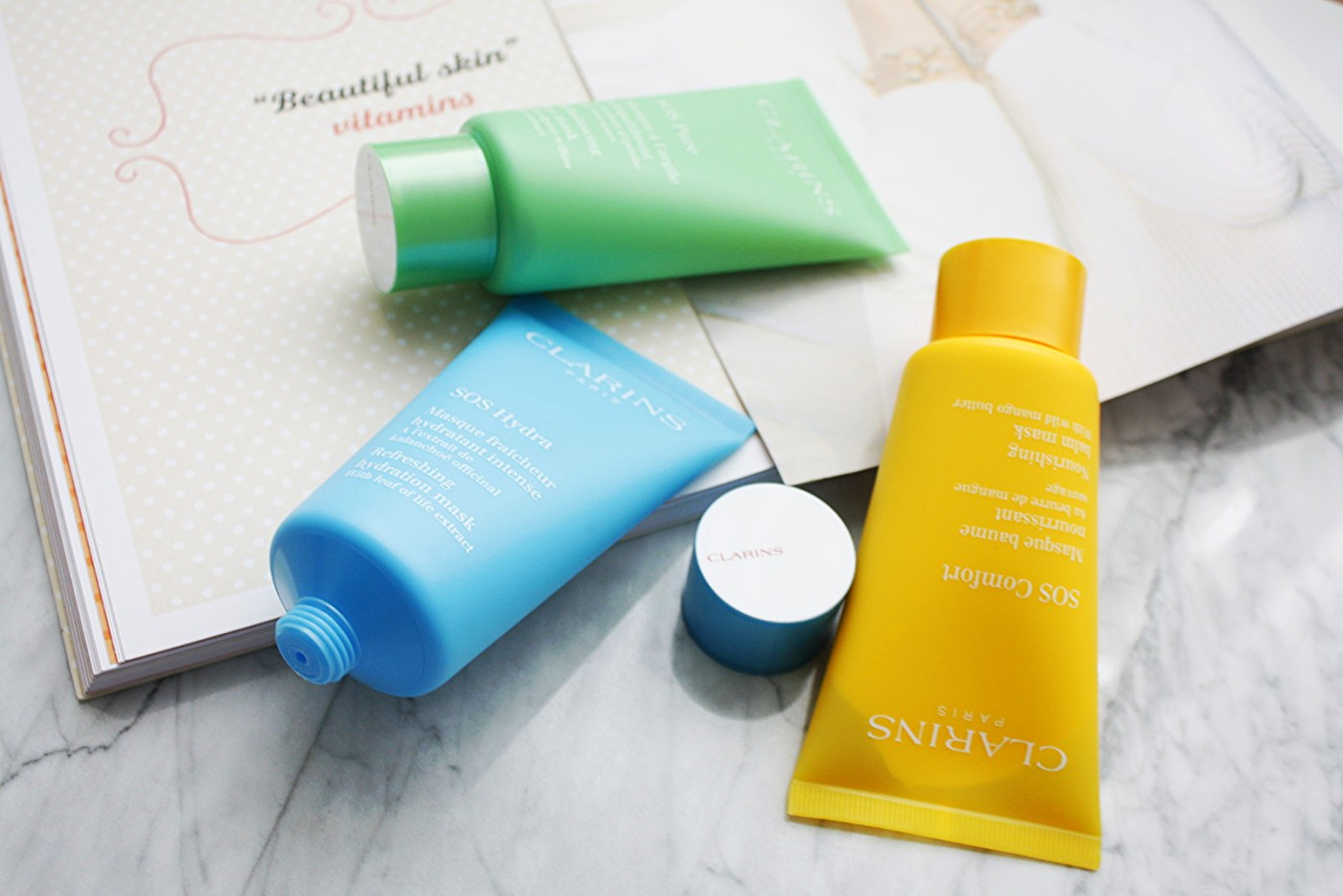 MASTER THE ART OF MULTI-MASKING WITH CLARINS SOS FACE MASKS