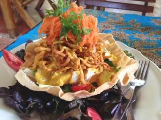 The Khao Soi salad at Om Garden. Spectacular.