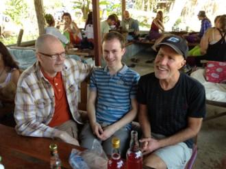 Larry Sebby and G at Ing Doi restaurant