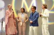Tilda Swinton, Jason Schwartzman, Roman Coppola and Wes Anderson