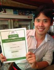 Chef Anon gets the Trip Advisor Certificate of Excellence for his restaurant Om Garden