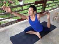 Rooftop yoga at Ing Doi