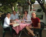 Lois, Jeff and Angela at Caruso's backyard.